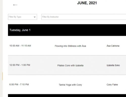 New automated Bookings System for Live Stream classes